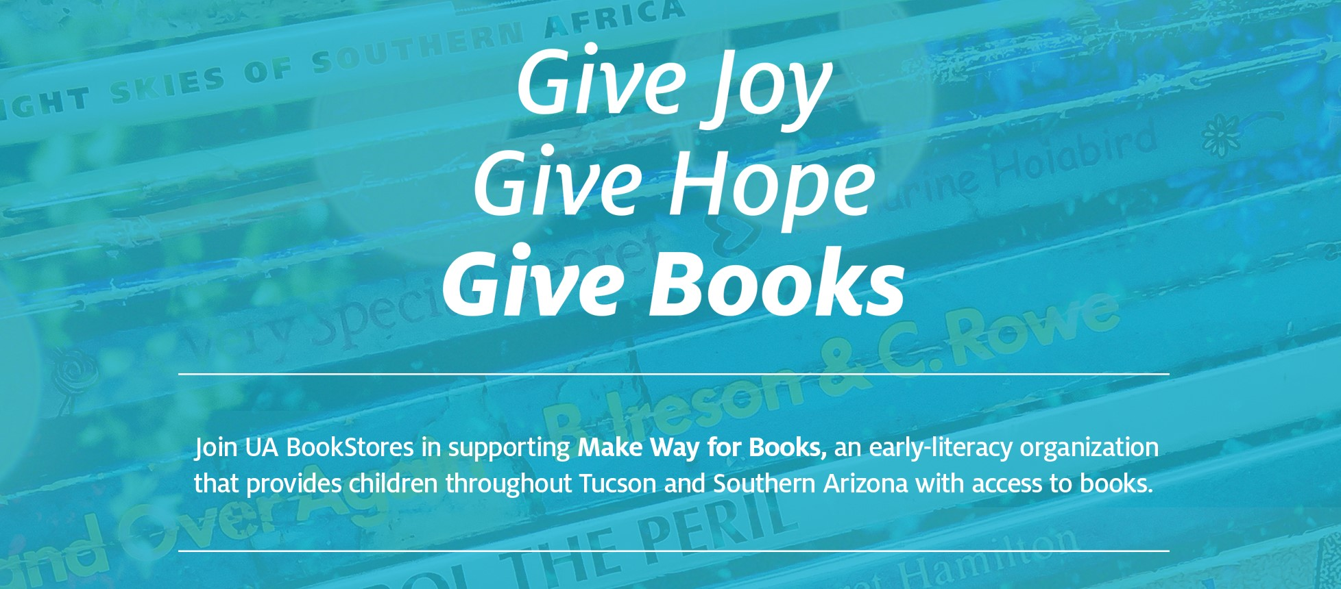 Give Joy. Give Hope. Give Books »