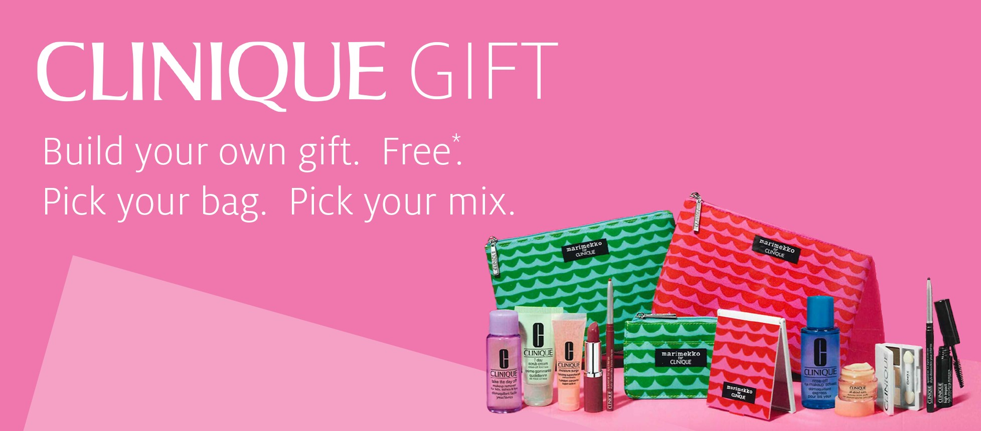 Clinique Gift: Pick Your Bag. Pick Your Mix